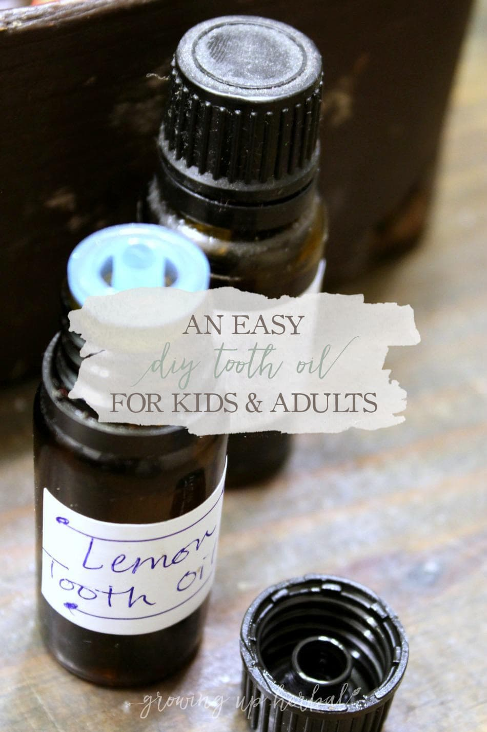 An Easy DIY Tooth Oil for Kids & Adults