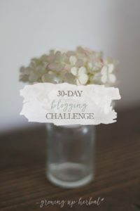 30-Day Blogging Challenge | Growing Up Herbal | I'm doing a 30-day blogging challenge to push myself to write and share more. I hope you'll follow along!