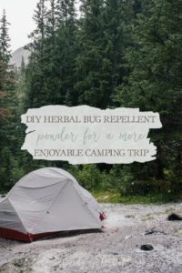 DIY Herbal Bug Repellent Powder For A More Enjoyable Camping Trip | Growing Up Herbal | Are pesky bugs ruining your time outdoors? All you need to make this DIY herbal bug repellent powder is a few ingredients. You'll soon be on your way to a more enjoyable camping trip!