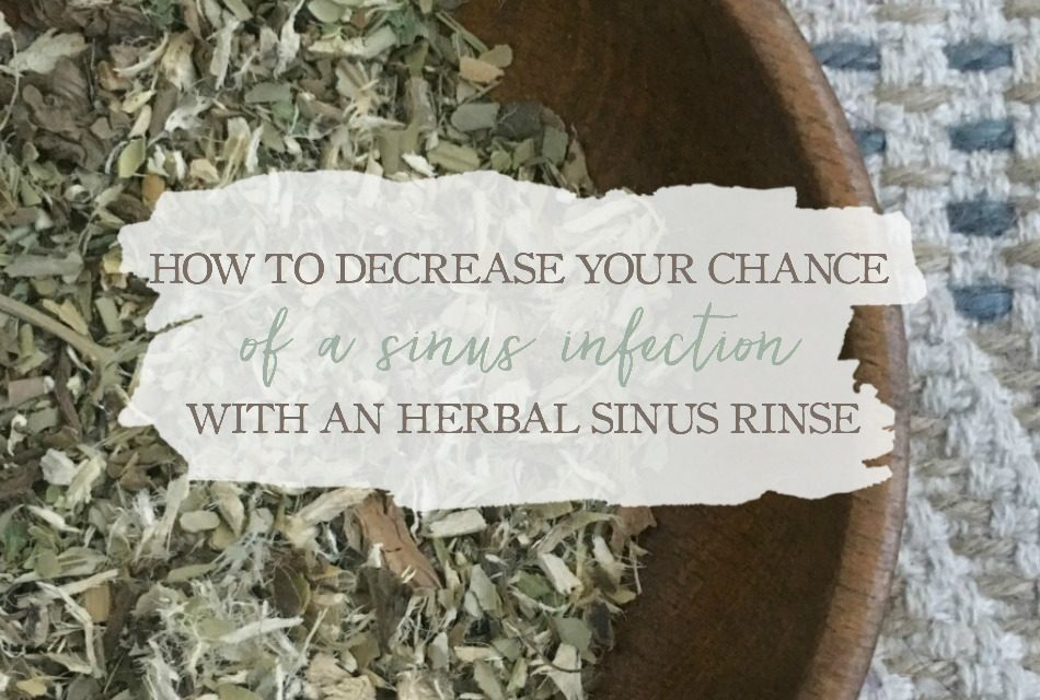 How To Decrease Your Chance Of A Sinus Infection With An Herbal Sinus Rinse