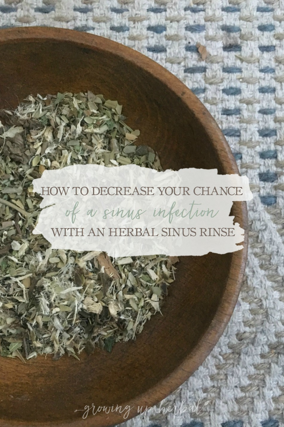 How To Decrease Your Chance Of A Sinus Infection With An Herbal Sinus Rinse | Growing Up Herbal | If sinus issues are a common occurrence for you, here's an herbal remedy that can offer you some much needed relief.