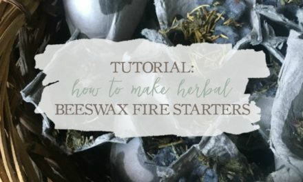 Tutorial: How To Make Herbal Beeswax Fire Starters