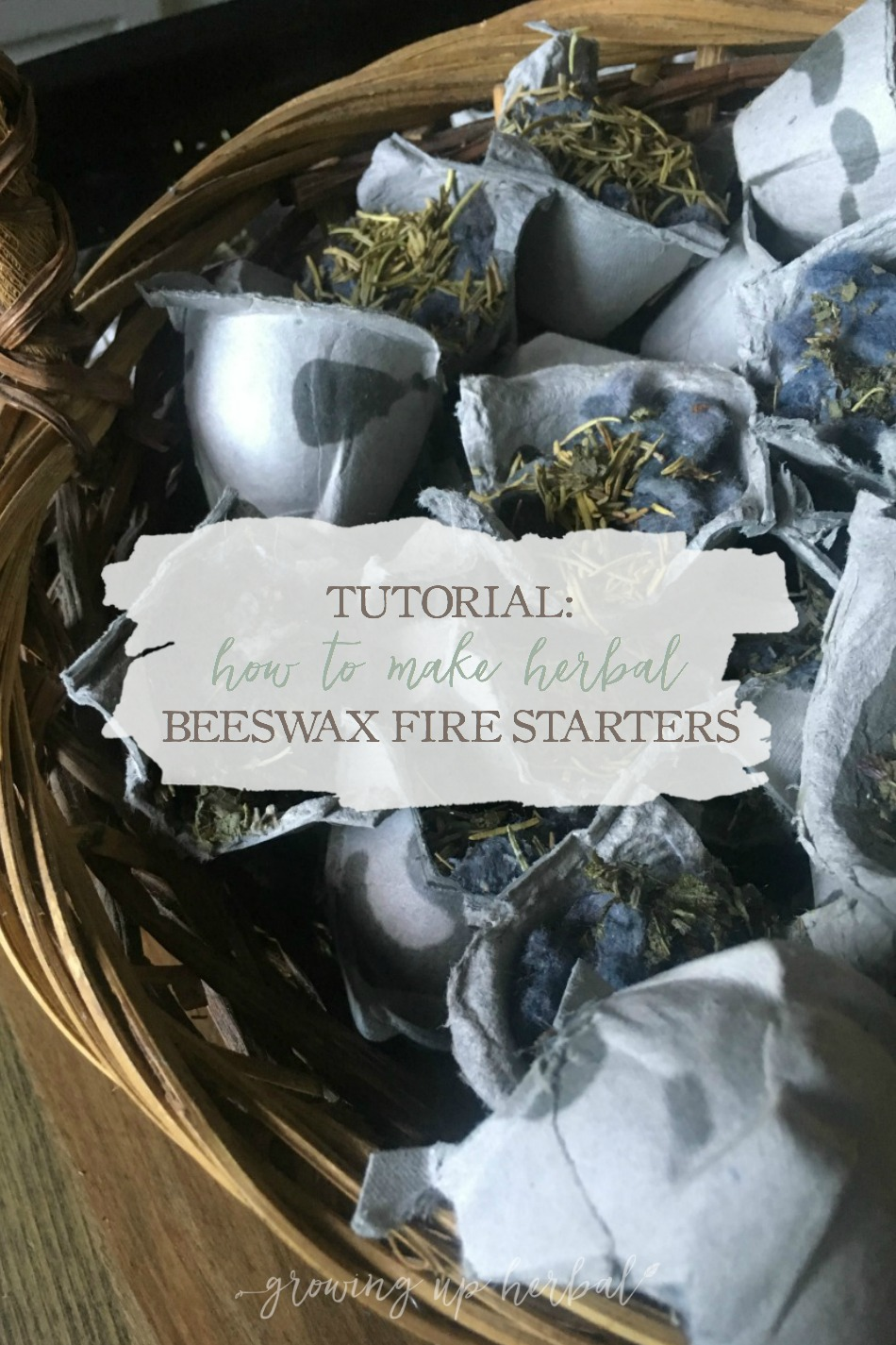 How To Make Herbal Beeswax Fire Starters | Growing Up Herbal | These herbal fire starters are easy to create and make starting fires much easier. Learn how to make them here!