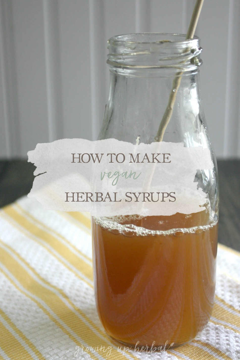 How To Make Vegan Herbal Syrup | Growing Up Herbal | If you're a vegan and are interested in making vegan herbal syrups, you'll find several alternatives to honey detailed in this article.