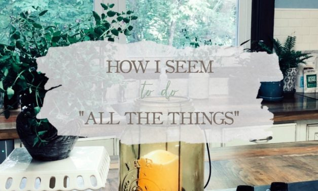 """How I Seem To Do """"All The Things"""""""