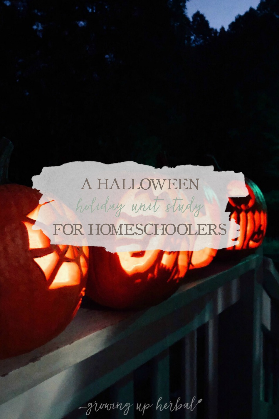 A Halloween Holiday Unit Study for Homeschoolers | Growing Up Herbal | We're trying something new in our homeschool. We're doing a holiday-themed unit study during our Winter Break all about Halloween. Here's what it consists of in case you want to do one too!