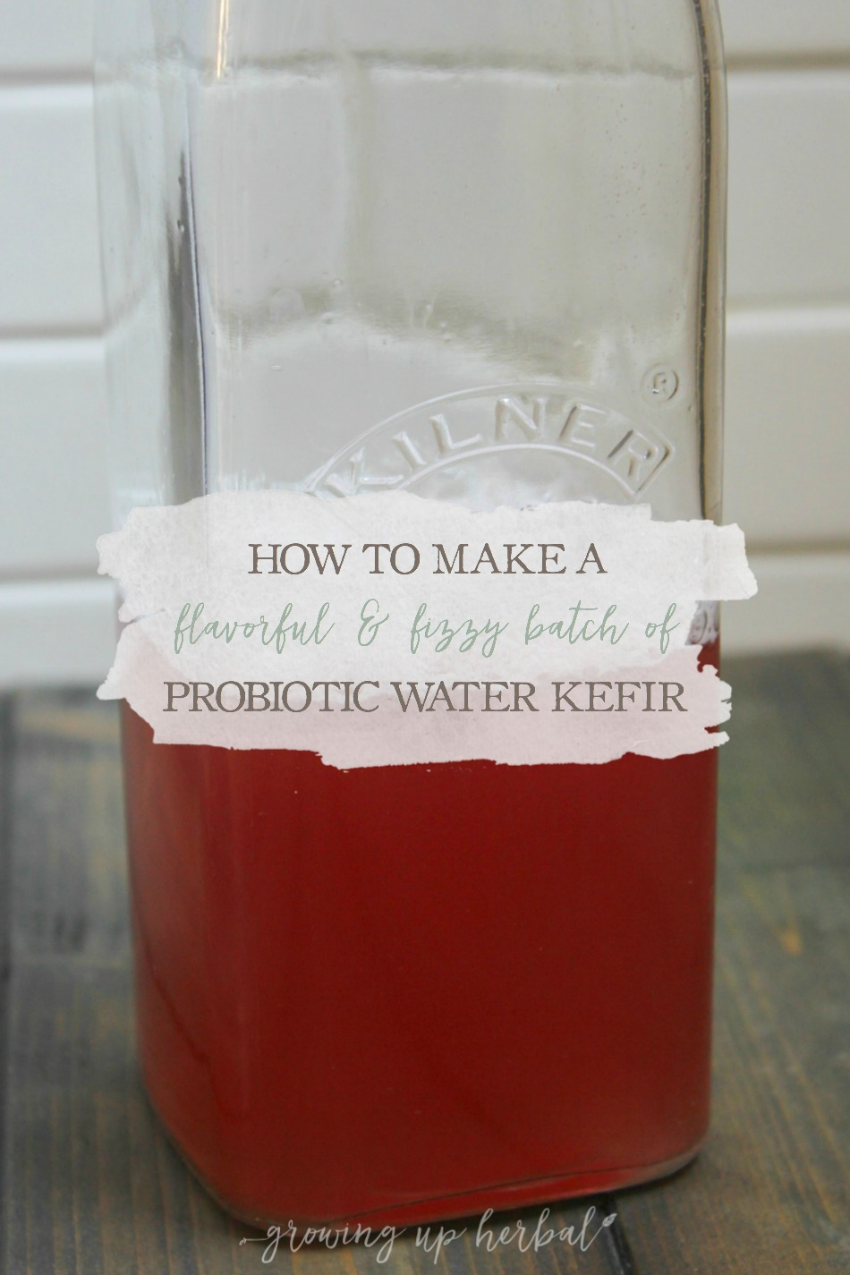 How To Make A Flavorful & Fizzy Batch of Probiotic Water Kefir | Growing Up Herbal | This water kefir recipe is sure to turn out with a delightful flavor and fizz that will make your tounge and tummy happy in more ways than one!
