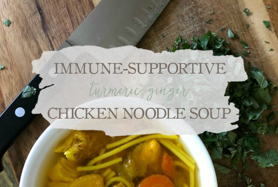 Immune-Supportive Turmeric-Ginger Chicken Noodle Soup