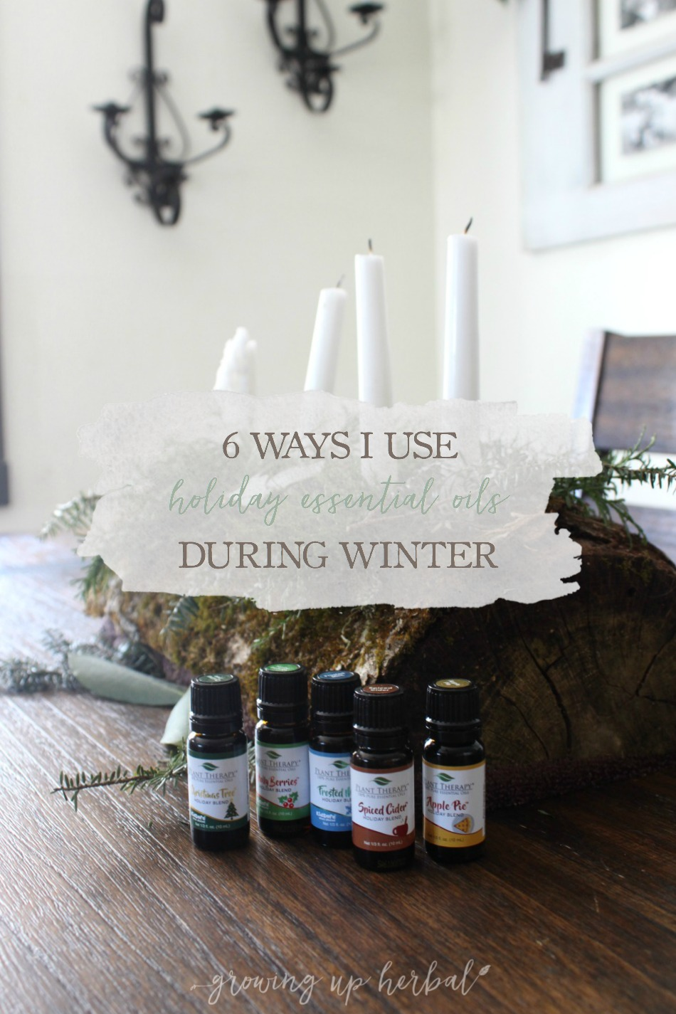 6 Ways I Use Holiday Essential Oils During Winter | Growing Up Herbal | Learn how I use holiday essential oils to not only make the atmosphere of our home more festive during the holidays but to support our health at the same time!