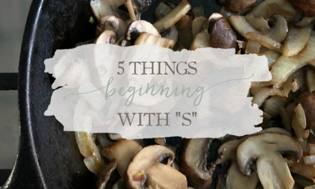 """5 Things Beginning With """"S"""""""