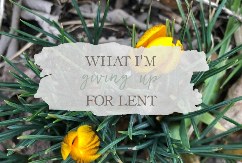 What I'm Giving Up For Lent