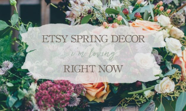 Etsy Spring Decor I'm Loving Right Now