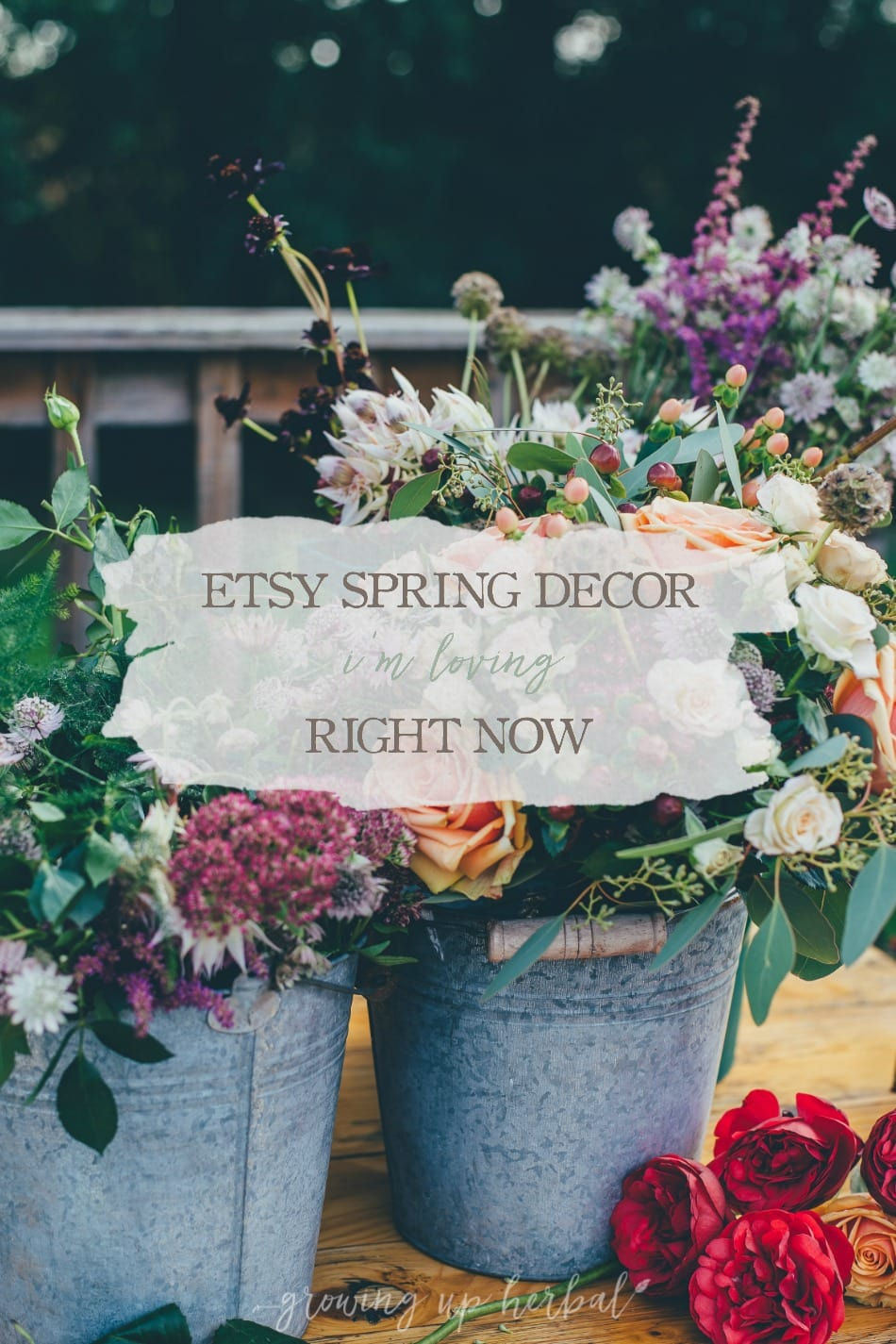 Etsy Spring Decor I'm Loving Right Now | Growing Up Herbal | If you're like me, you're ready to give your home a spring facelift. Here's some handmade spring decor from Etsy that I'm loving this season!