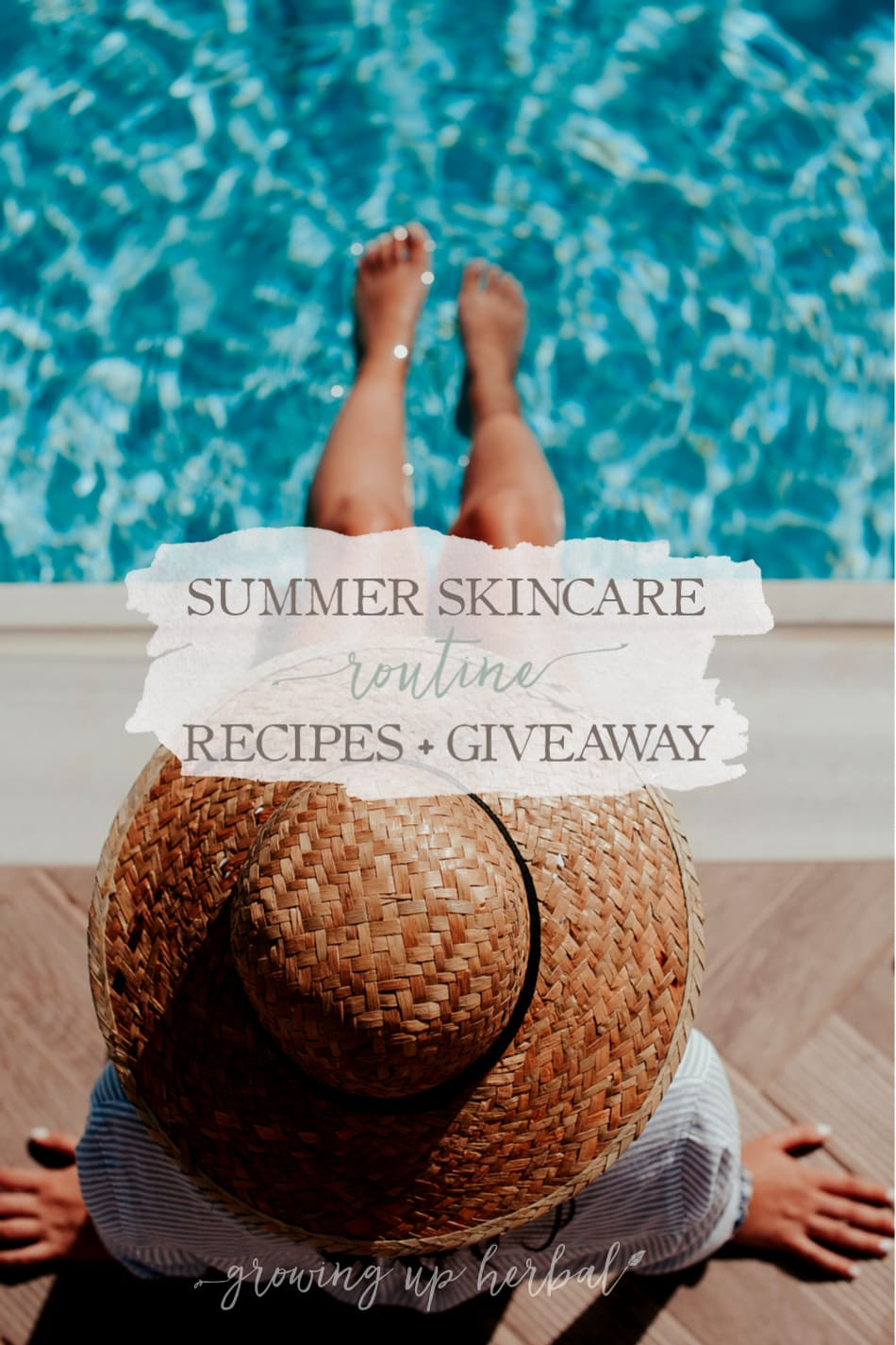 My Healthy Summer Skincare Routine & DIY Recipes (And A Giveaway) | Growing Up Herbal | Check out my new summer skincare routine along with some great DIY skin care recipes and a natural skin care package giveaway too!