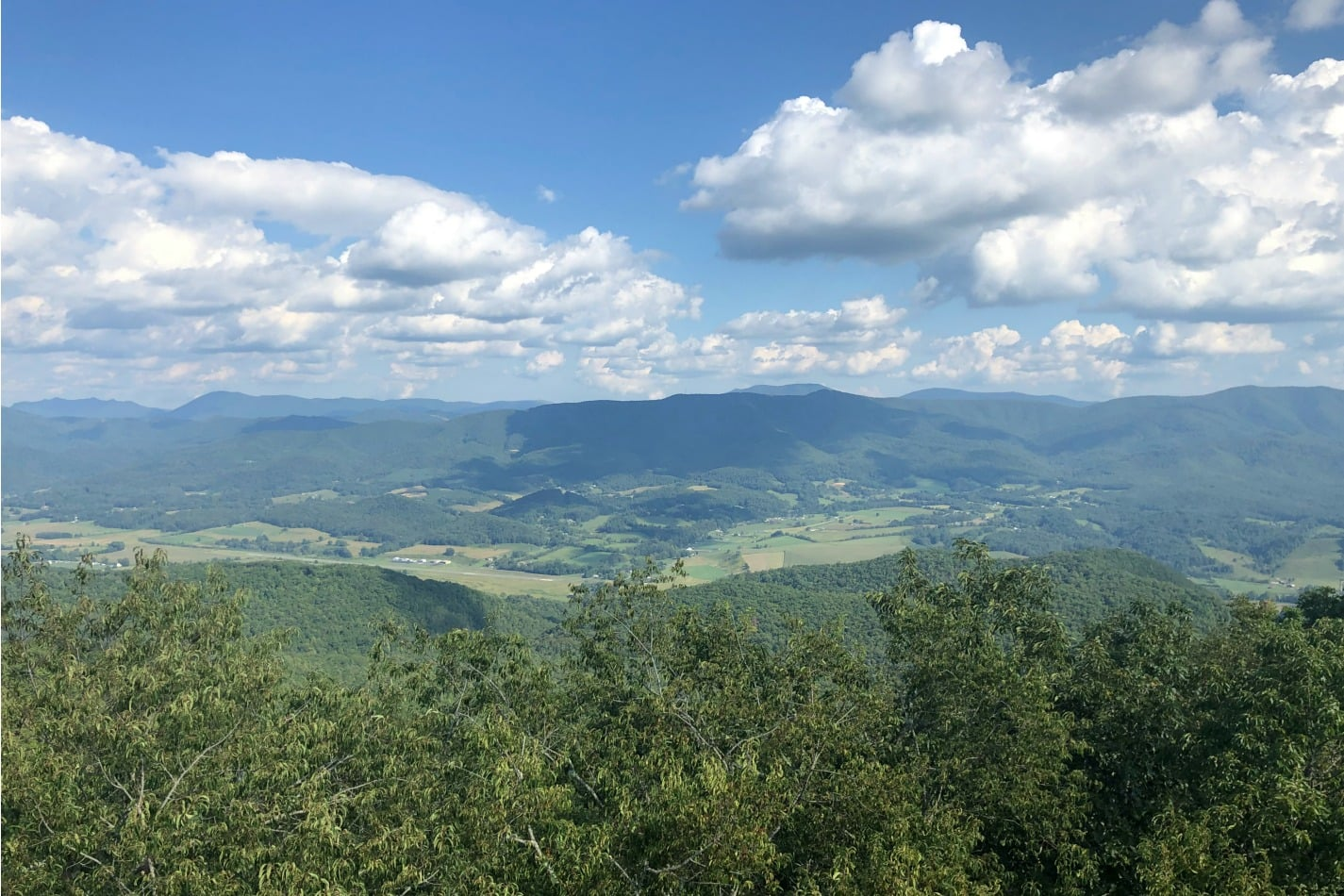 Labor Day Hike to the Fire Tower | Growing Up Herbal | Enjoy views of the Appalachian Mountains of East Tennessee in these photos from our Labor Day hike to the fire tower.