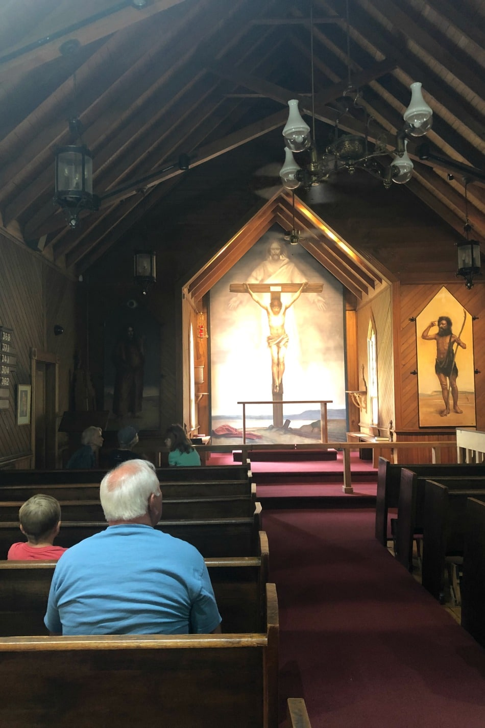 Visiting The Frescos in West Jefferson, NC | Growing Up Herbal | We finally made it to see the fresco paintings housed in a couple of old Episcopal churches in West Jefferson, North Carolina for our Michaelangelo artist study!