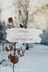 Herbal Nourishment for Winter | Growing Up Herbal | Winter has always been a time to slow down and rest. It's also the perfect time to incorporate some herbal nourishment into your diet. Learn how here.