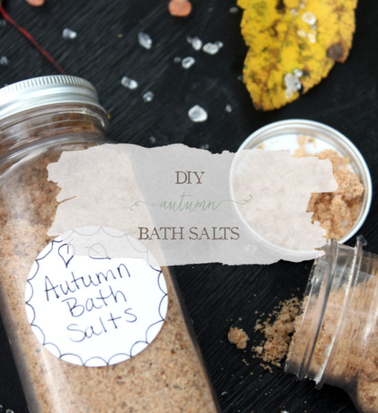DIY Autumn Bath Salt Recipe