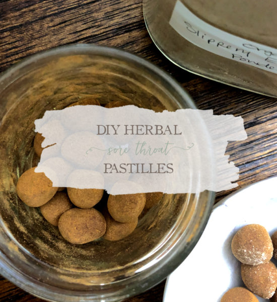 DIY Herbal Sore Throat Pastilles