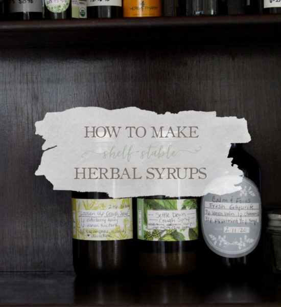 [Video] How To Make Shelf-Stable Herbal Syrups